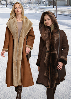 Womens shearling coats