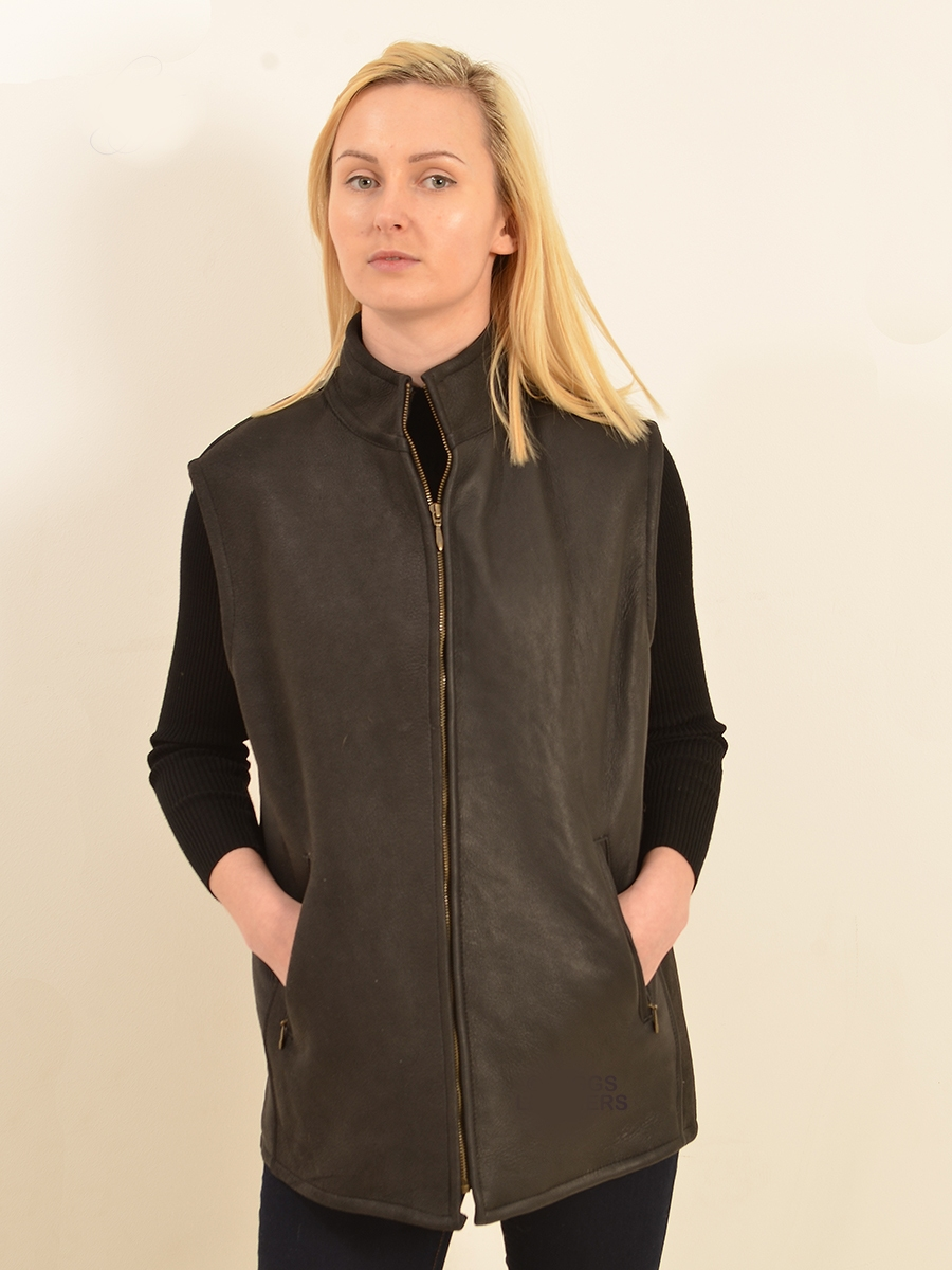 bedford unisex nappa sheepskin body warmer