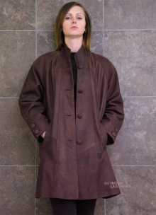 Higgs Leathers LAST FEW!  Shirley (Swingback 3/4 length women's Nubuck jackets)