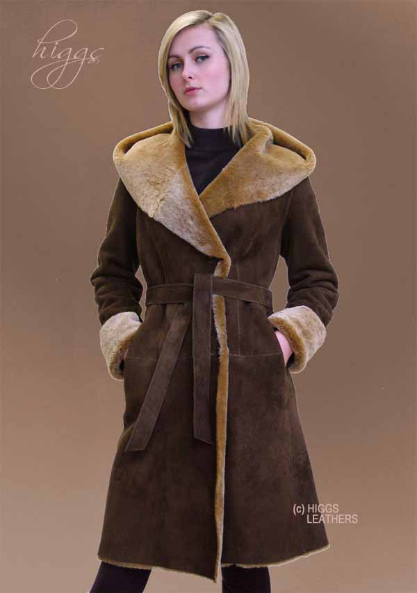 Higgs Leathers | Buy Caprice (ladies Hooded Shearling coats