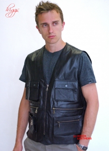 Higgs Leathers LAST FEW! Poachers (man's leather body warmer)