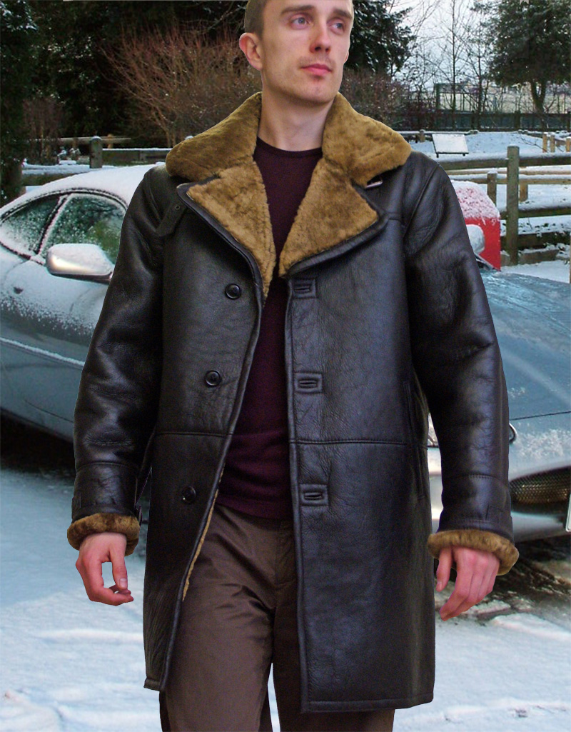 Higgs Leathers | Buy Raymond (7/8th length men&39s sheepskin coats