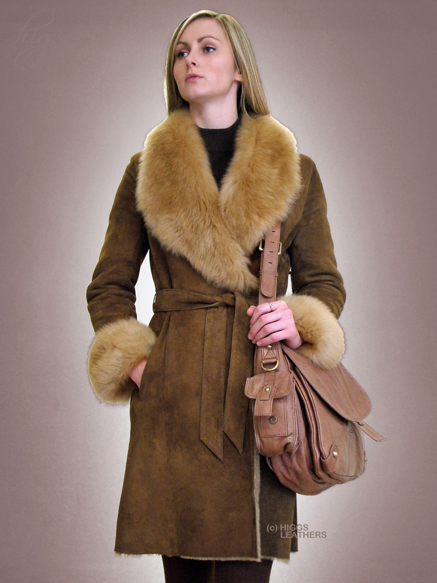 Higgs Leathers | Buy SAVE 200 Columbia (ladies belted Shearling