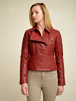 Higgs Leathers NEW! Kadie (ladies Red Leather Biker jackets)