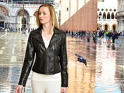 Higgs Leathers ALL SOLD!  Zoya (ladies Black Leather Biker jackets)