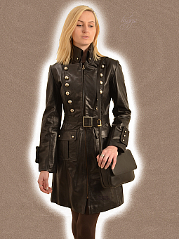 Womens Long Leather Coats | Higgs Leathers Essex
