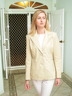 Higgs Leathers Betsina (ladies long leather Blazer Jackets)