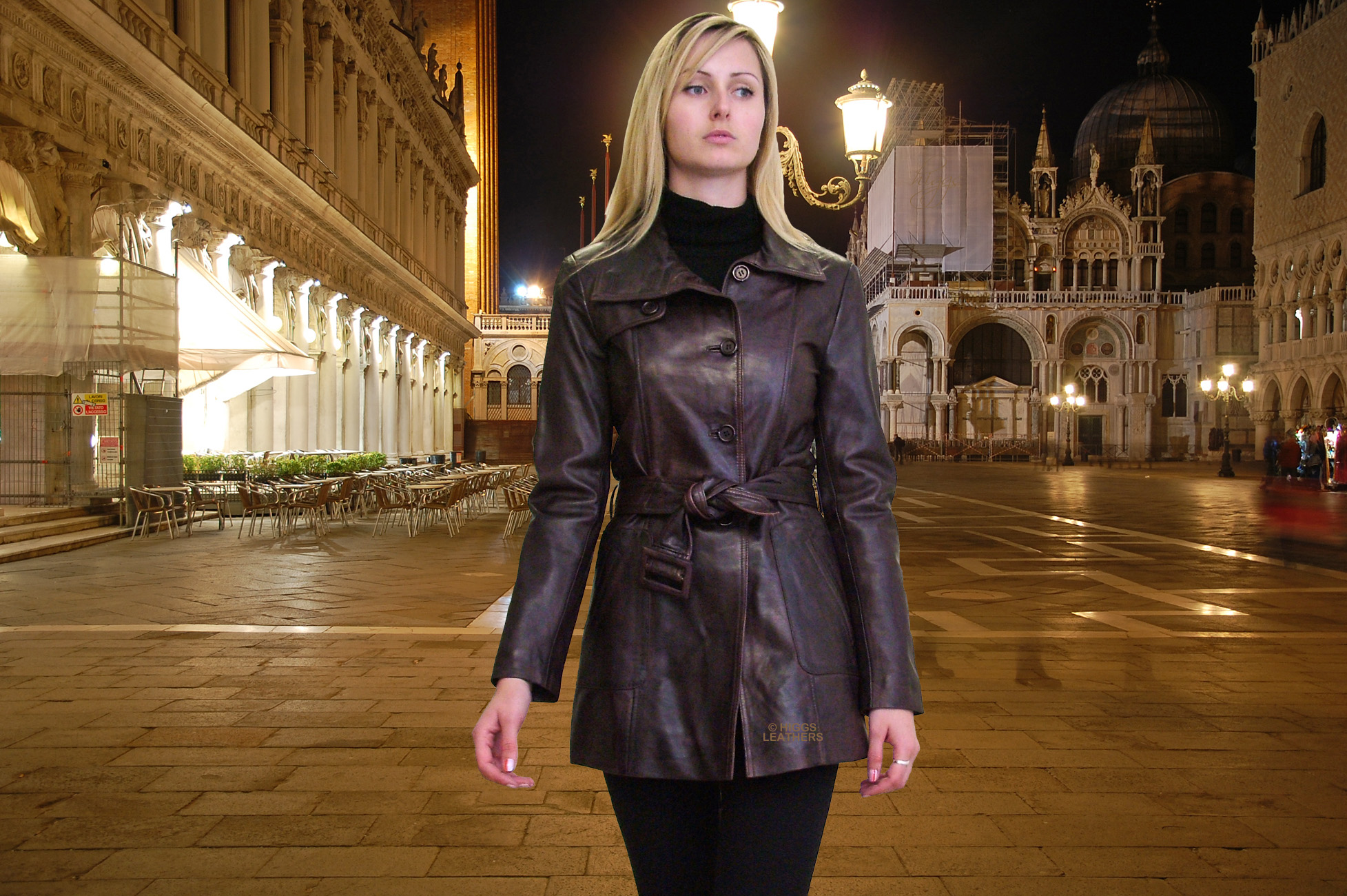 Viewing Gallery For - Leather Trench Coat Women
