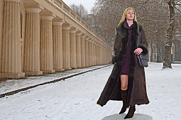 Higgs Leathers Anastasia (Toscana trimmed Merino Shearling coat)