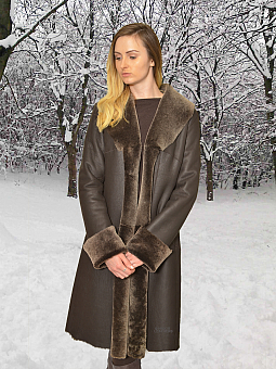 Higgs Leathers ONE ONLY SAVE £500!  Anna (ladies Nappa Merino Shearling coat)