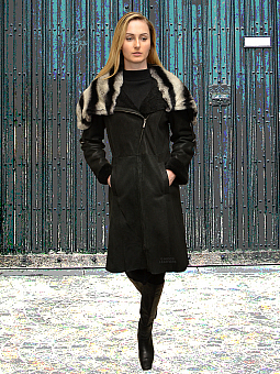 Higgs Leathers TWO ONLY SAVE £700!  Callie (ladies Designer style Shearling coat)