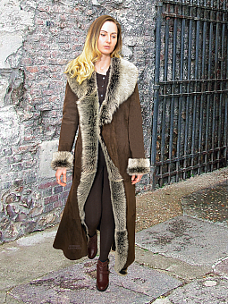 Higgs Leathers ONE ONLY SAVE £500!  Katyann (Toscana trimmed Merino Shearling coat)