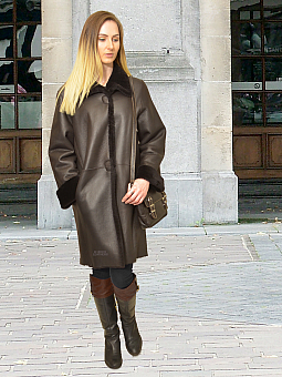 Higgs Leathers TWO ONLY SAVE £450! Marlena (ladies Merino Shearling coat)