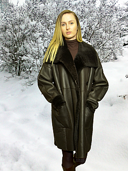 Higgs Leathers ONE ONLY SAVE £400!  Siobhan (ladies Merino Shearling 7/8th. coat)