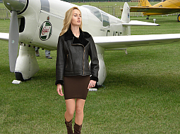 Higgs Leathers NEW!  Amelia (ladies Black Merino Shearling flying jackets)