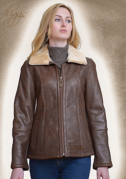 Higgs Leathers SAVE £100 LAST FEW!  Holly (ladies Nappa Shearling zip jackets)