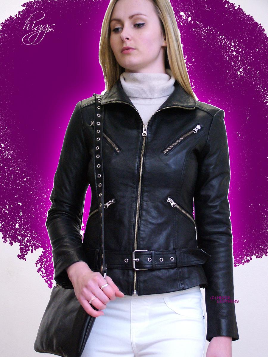 Leather jacket uk womens - Leather Biker Jackets Womens Uk