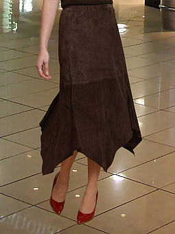 Higgs Leathers LAST ONE HALF PRICE!  Amanda (elasticated waist Kid Suede skirts)