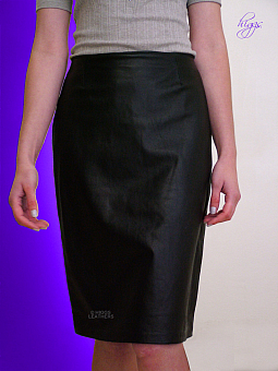 Higgs Leathers Penny (ladies Black Leather Pencil skirts)