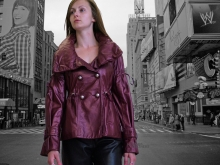 Higgs Leathers LAST TWO! Meryl (ladies Burgundy leather jackets)