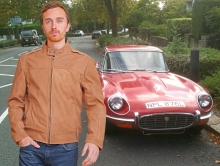 Higgs Leathers LAST ONE!  Danny (men's Tan Nubuck Biker jackets)