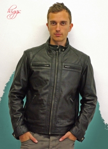 Higgs Leathers Alonzo (men's Designer Black Leather Biker jackets)