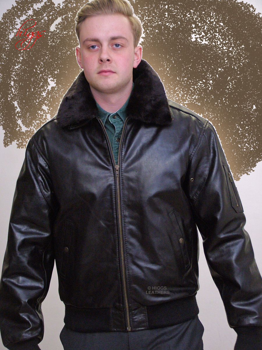 Higgs Leathers | Buy LAST ONE B52 Bomber (mens leather bomber ...
