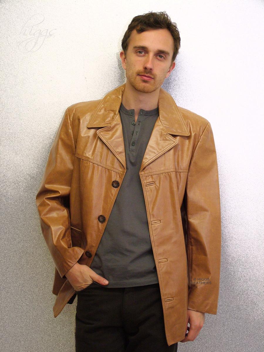 Leather jacket uk mens - Max Mens Glazed Leather Jackets
