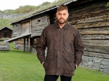 Higgs Leathers NEW!  Adrian   (Brown Leather Parka jackets for men)