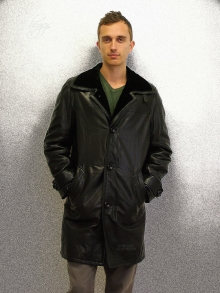 Higgs Leathers LAST ONE SAVE £440  Ludo (Shearling lined Leather 3/4 coat)