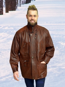 Higgs Leathers ONE ONLY SAVE £60!  Michael (men's tan leather Parka jacket )