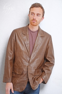 Higgs Leathers NEW!  Milano (men's retro leather suit jackets)