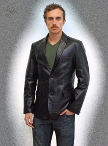 MEN'S BLACK LEATHER JACKETS | Higgs Leathers Essex