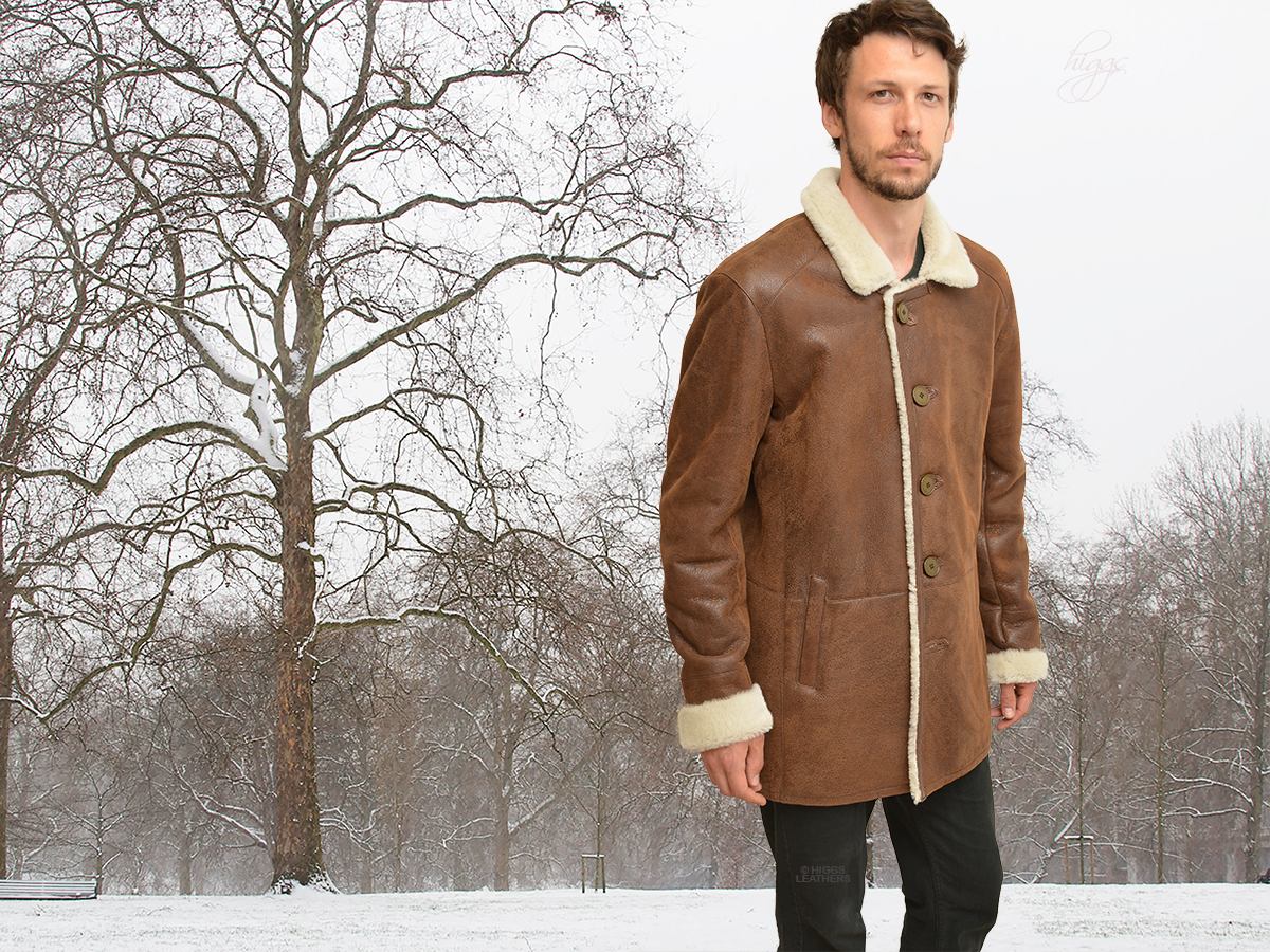 Higgs Leathers | Buy ONE ONLY Ludar (men's Shearling car coats ...
