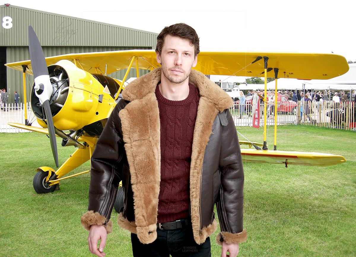 Mens sheepskin jackets for sale
