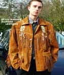 Higgs Leathers Mens Fringed Suede Jackets