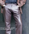 Higgs Leathers Mens Leather Trousers