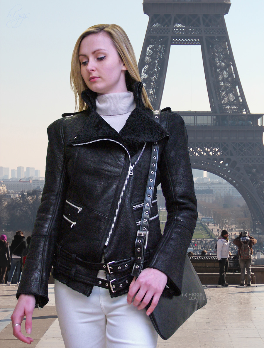 Higgs Leathers LAST TWO SAVE £300!  Beth (ladies Designer Shearling flying jacket)