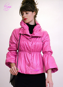 Higgs Leathers SOLD!  Gretel (ladies Pink Designer Leather jackets)