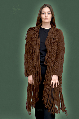 Higgs Leathers HALF PRICE SAVE £83!  Paris (ladies Designer Knitwear fringed coats)