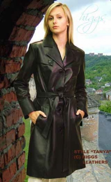 Higgs Leathers ALL SOLD! Tanya (ladies black leather Trench coats)