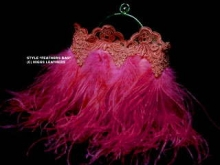 Higgs Leathers Feathered evening bag (Cerise)