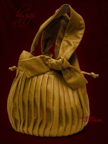 Higgs Leathers ALL SOLD!  Florenza (ladies Luxury Designer pleated leather bag)