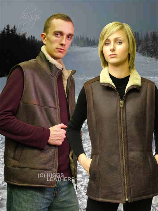 Higgs Leathers York  (ladies Sheepskin body warmer)