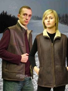 Higgs Leathers ALL SOLD! HALF PRICE!  York  (ladies Sheepskin body warmer)