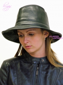 Higgs Leathers LAST FEW!  Fedora (soft brimmed ladies leather hats)