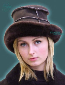 Higgs Leathers FEW ONLY! Hekki (ladies brimmed Sheepskin hats)