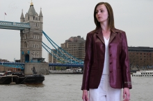 Higgs Leathers LAST FEW SAVE £70!  Bron (long blazer style women's leather jacket)