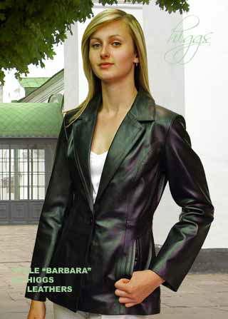 Higgs Leathers Buy Barbara Blazer Style Women S Black Leather
