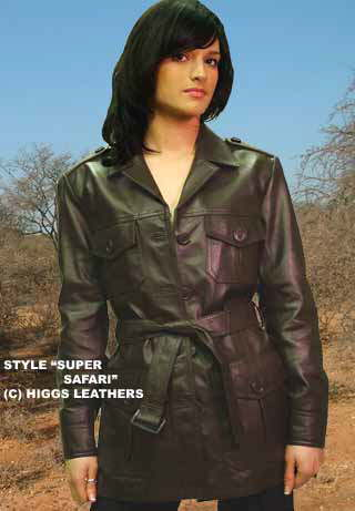 Higgs Leathers {ONE ONLY SAVE £30!}   Super Safari! (women's leather safari jacket)